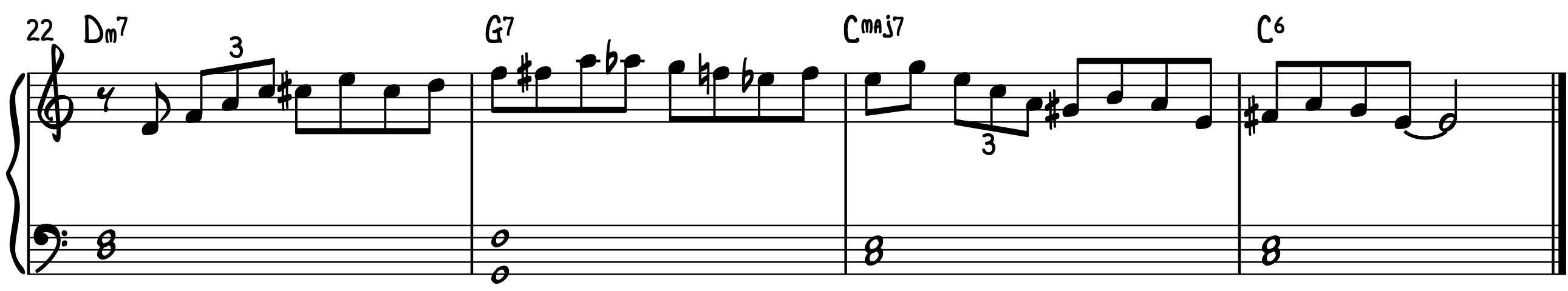 Play Bebop Piano Lines Example 2